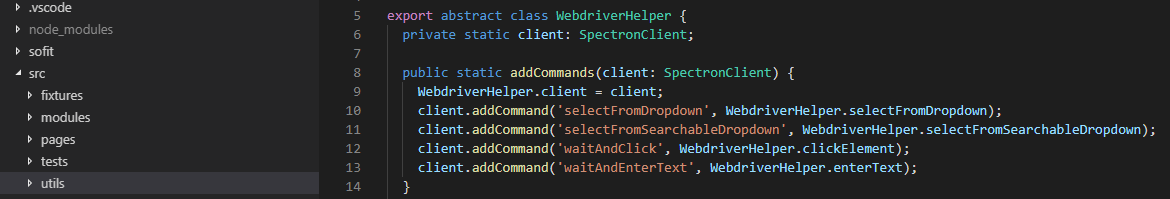 Custom Commands with WebdriverIO